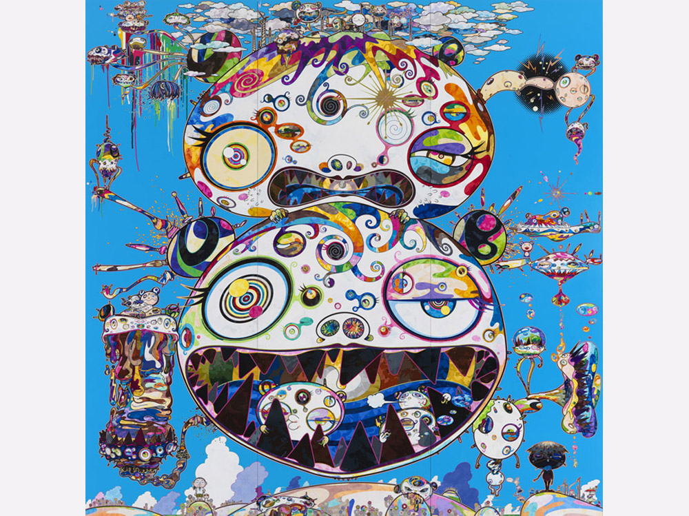 Takashi Murakami, 'Tan Tan Bo - In Communication,' 2014. Acrylic on canvas, 141 3/4 by 141 3/4 inches