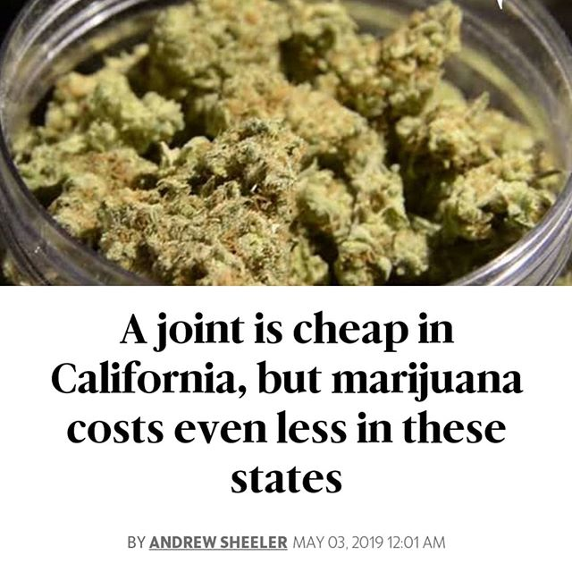 California might not be the cheapest place to score a joint, but the price of green in the Golden State falls well below the national average.  The Oxford Treatment Center, a drug addiction treatment center, used data from crowd-source marijuana price aggregator priceofweed.com, to compile a list of states where bud is cheapest, and where it's most expensive.  Priceofweed.com does not distinguish between marijuana purchased at retail stores and marijuana bought on the street from dealers. It gathers data from users who report how much they pay for cannabis.  Here's how California compared. - For an ounce of high quality cannabis, Californians paid $257 on average. They paid $5.97 on average for a joint of high quality weed.  Neighboring Oregon had the cheapest quality marijuana at $211 for an ounce and $4.91 for a joint. The nation's capital, Washington D.C., had by far the highest price of cannabis at $597.88 for an ounce and $13.92 for a joint. - The national average price for an ounce of high quality weed was $326.06 and $7.59 for a joint.  States with legal cannabis that can be bought in retail stores tended to have the cheapest marijuana. California, Colorado, Oregon, Nevada and Washington were some of the states with legal recreational marijuana where marijuana tends to cost less than the national average, according to the report.  Californians paid $207 on average for an ounce of medium quality marijuana, and $4.83 for a joint.  Again, Washington D.C. had the most expensive weed. An ounce of medium quality bud costs $550.66 in D.C. on average, while a joint costs $12.82. - The cheapest medium quality marijuana was in Mississippi; an ounce in the Magnolia state runs $170.22 on average, while a joint runs $3.96.  The average price of medium quality marijuana was $265.58 for an ounce and $6.18 for a joint. - 🌲🌲🔥🔥💨💨 #Beardbros_Pharms #BeardBrosMedia #BBMedia #CannabisNews #losangeles #la #california #cannabiscommunity #cannabis #marijuana #real #life #weshouldsmoke