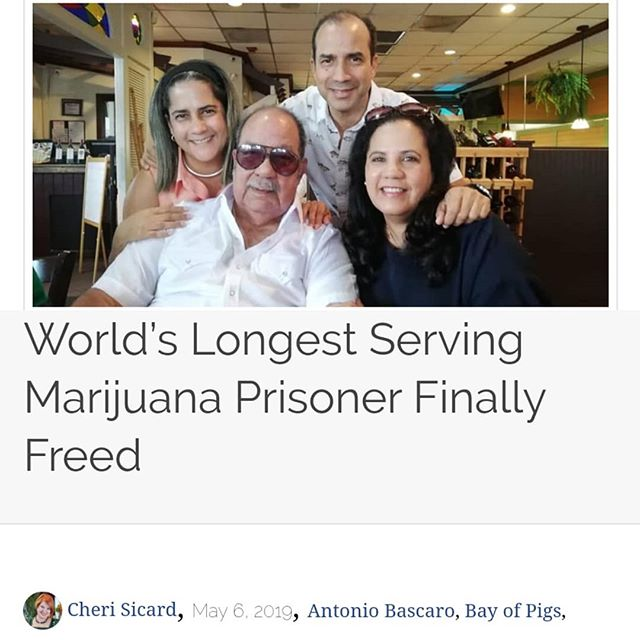 "After spending 39 years behind bars, Antonio Bascaro, 84, the world's longest marijuana prisoner, was finally released from federal lockup on May 1. - As the date approached, the volume of well wishes from supporters, fellow inmates and even FCI Miami prison staff surprised Bascaro and warmed his heart. - With excitement high, he and his family were ""counting the minutes"" until the release on house arrest. In addition to his children and grandchildren, a handful of press greeted the octogenarian as he emerged from the prison gates. - Hours later, Bascaro was with his sister in the kitchen preparing his favorite meal, lechon asado, as his children, grandchildren and friends gathered to celebrate the long-overdue reunion. - It's a happy ending straight out of a Hollywood movie filled with twists, turns and international intrigue. - From Cuban War Hero to CIA Asset to Marijuana Smuggler - Born in Cuba in 1936, Bascaro quit medical school in 1952 and joined the Navy because he had always dreamed of being a pilot. At the time, Cuba was under the rule of dictator Fulgencio Batista, who would be deposed by Fidel Castro's Communist regime in 1959. - Bascaro worked as a pilot to support counter-intelligence operations. After Castro took power, he was held in various Cuban prisons before mistakenly being released and eventually granted asylum in Uruguay. - Because of his experience as a Cuban military pilot, the CIA recruited Bascaro in its efforts to overthrow Castro. He trained in Guatemala and relocated to Nicaragua for the Bay of Pigs invasion. - After the failed 1961 invasion, Bascaro returned to Guatemala where he married and had three children. He divorced a decade later and moved to South Florida, a U.S. marijuana smuggling hub. With his CIA training and experience as a pilot, he proved to be a valuable commodity for that kind of enterprise. - Cont. In Comments 🌲🌲🔥🔥💨💨 #Beardbros_Pharms #BeardBrosMedia #BBMedia #CannabisNews #losangeles #la #california #cannabiscommunity #cannabis #marijuana #real #life #weshouldsmoke"