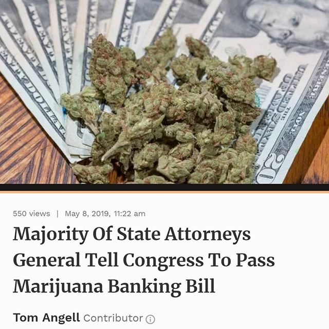"The top law enforcement officials from 38 U.S. states and territories are calling on #Congress to pass legislation to increase marijuana businesses' access to #banks. The move comes just days after the treasurers of 17 states issued a separate call in support of the pending cannabis #financial services bill. - Even as a growing number of states adopt laws to legalize marijuana for #medical or #recreational use, #federal #prohibition remains intact—for now—and that makes many banks wary of maintaining accounts for cannabis growing, processing or retail operations. They could, they fear, be prosecuted under federal #money #laundering laws. - #Legislation to shield financial services providers from being punished by regulators for working with the cannabis industry has been gaining momentum in Congress, and now the effort is getting a boost from the National Association of Attorneys General, which is officially endorsing the bill. - ""Businesses are forced to operate on a cash basis. The resulting grey market makes it more difficult to track revenues for taxation and regulatory compliance purposes, contributes to a public safety threat as cash-intensive businesses are often targets for criminal activity, and prevents proper tracking of billions in finances across the nation,"" the attorneys general wrote in a letter to congressional leaders on Wednesday. ""Regardless of how individual policymakers feel about states permitting the use of medical or recreational marijuana, the reality of the situation requires federal rules that permit a sensible banking regime for legal businesses,"" the officials wrote. - Continued in Comments 🌲🌲🔥🔥💨💨 #Beardbros_Pharms #BeardBrosMedia #BBMedia #CannabisNews #losangeles #la #california #cannabiscommunity #cannabis #marijuana #real #life #weshouldsmoke"