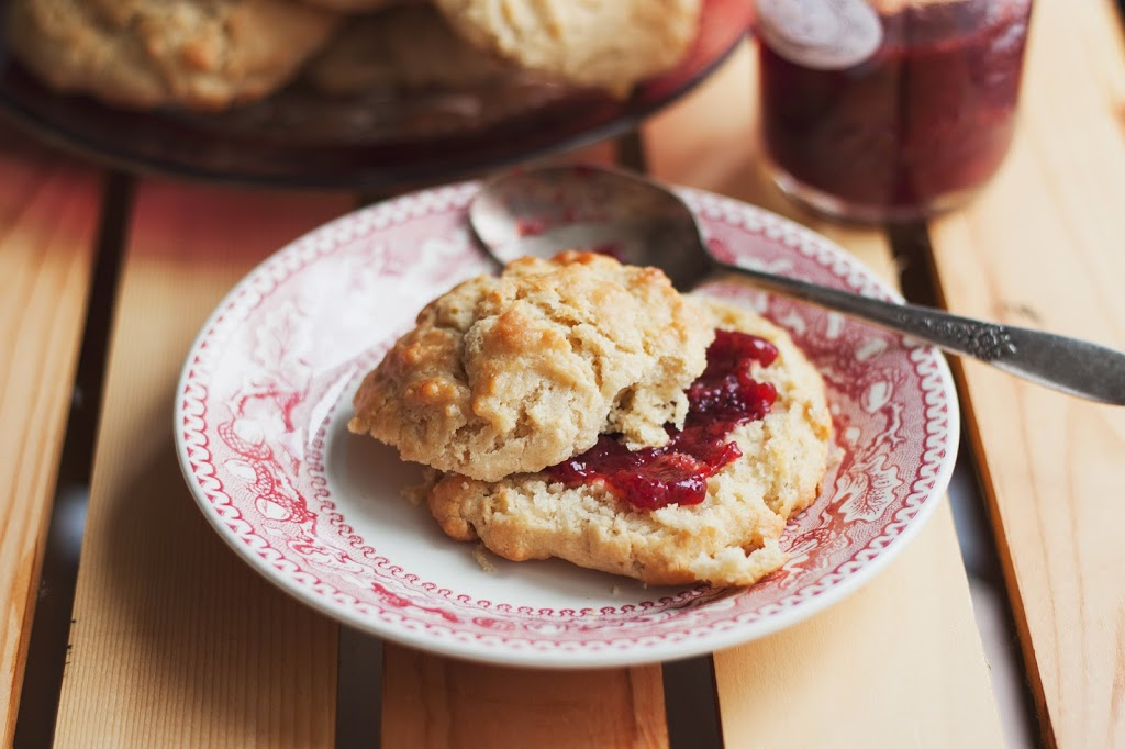 Vegan Coconut Oil Drop Biscuits with Strawberry Jam — Will