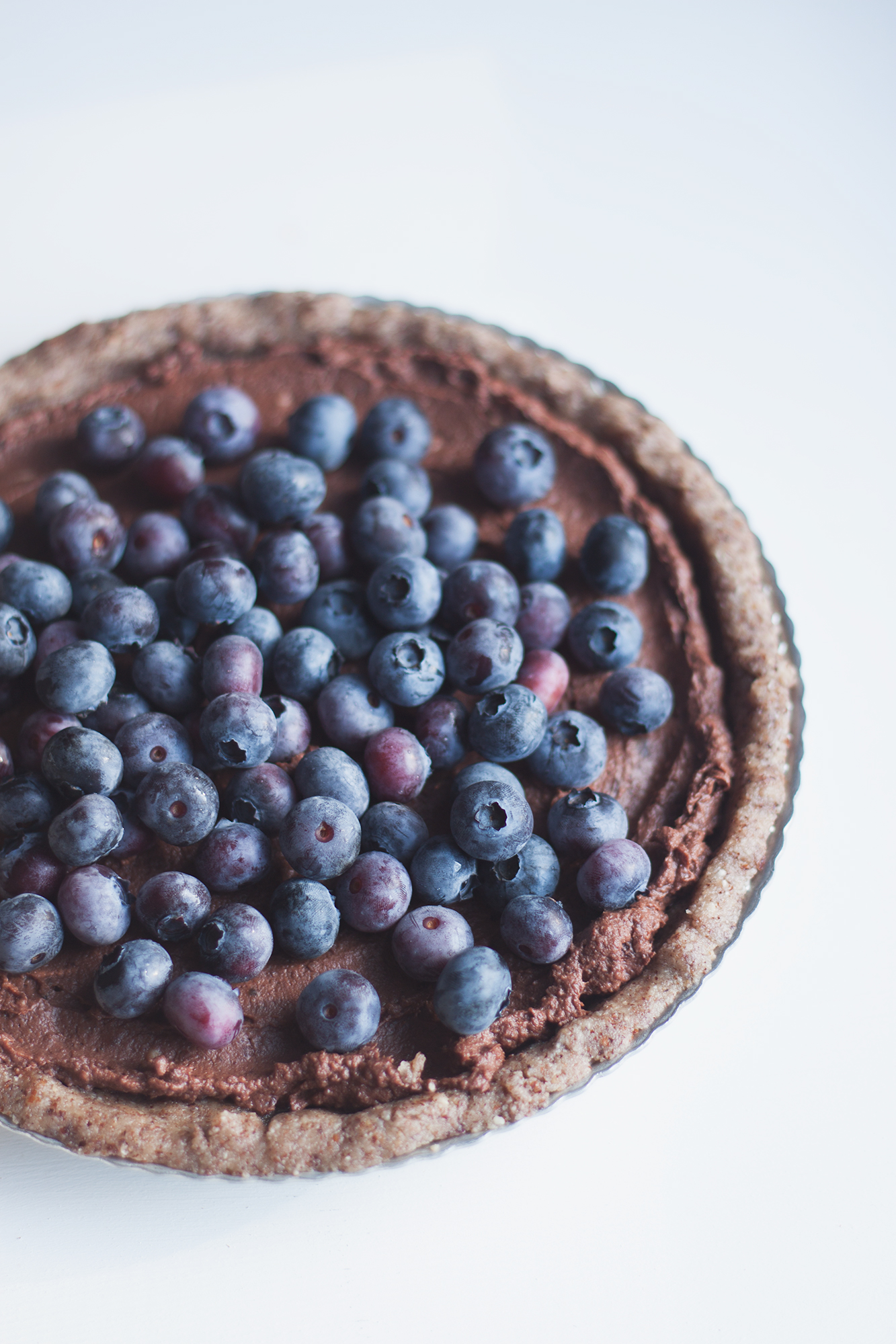 raw vegan salted blueberry chocolate tart recipe + giveaway with J.Q. Dickenson Salt Works via Will Frolic for Food