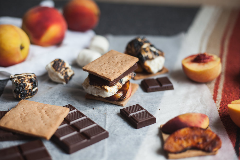 s'meaches (s'mores + caramelized peaches) plus a recipe for gluten free graham crackers (yeah it's vegan too) | will frolic for food