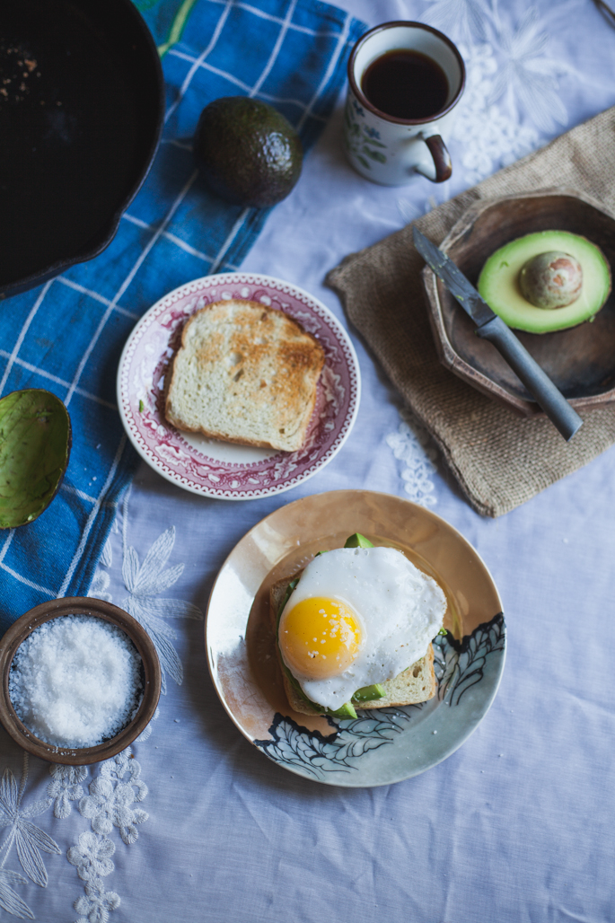 a duck egg over avocado toast | gluten free recipe via Will Frolic for Food