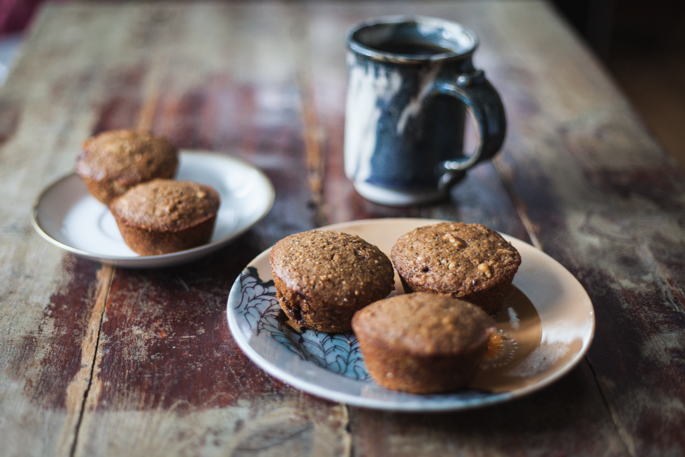 gluten free pine nut, cardamom, and chia muffins via will frolic for food