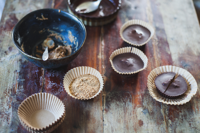 giant chocolate almond butter cups (sweetened with coconut sugar | vegan and gluten free recipe via will frolic for food