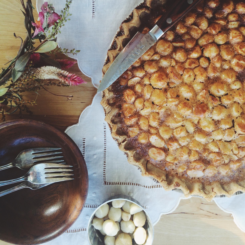 honey-maple macadamia pie via will frolic for food