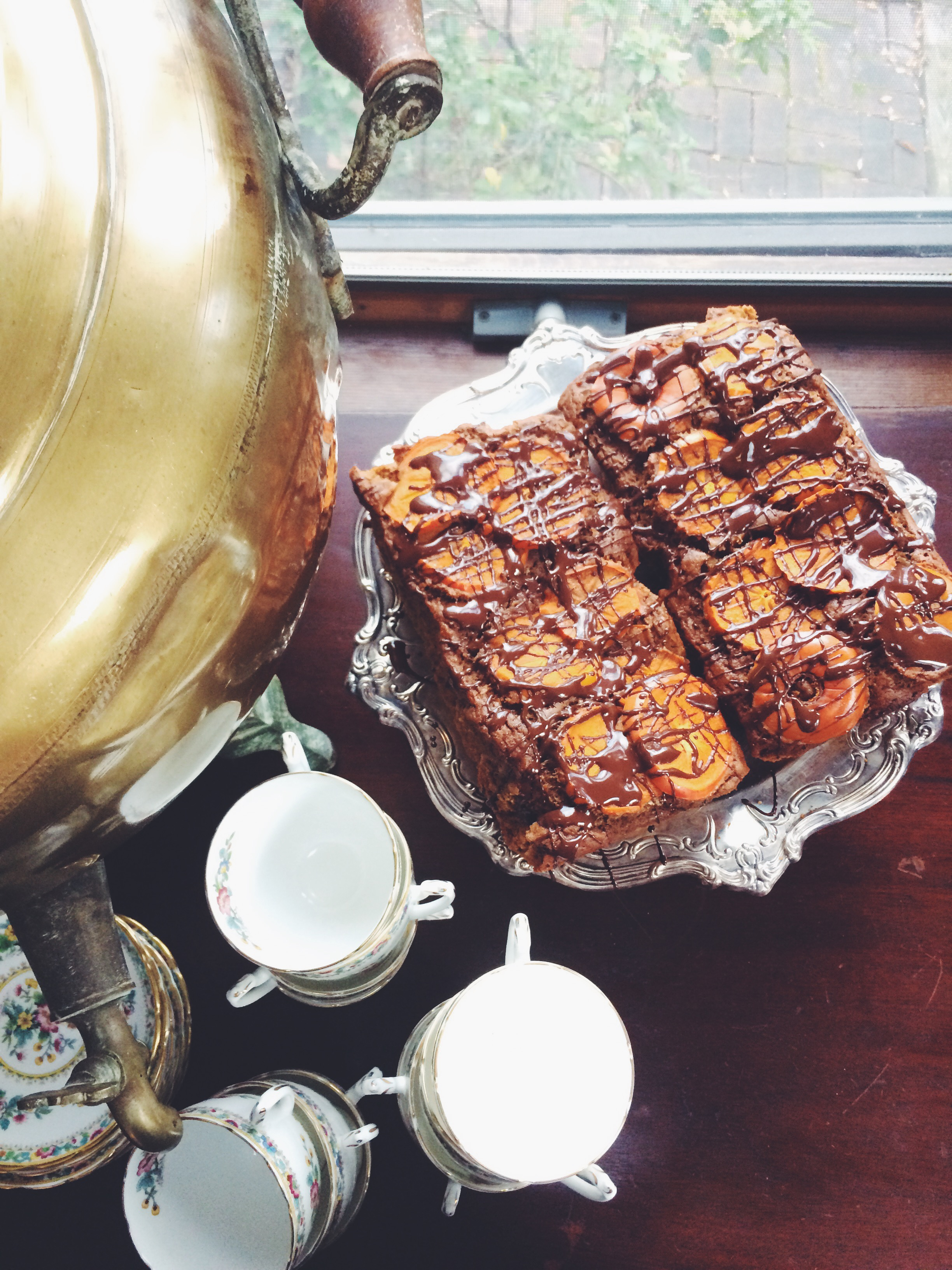 Persimmon cake (gluten free) via will frolic for food