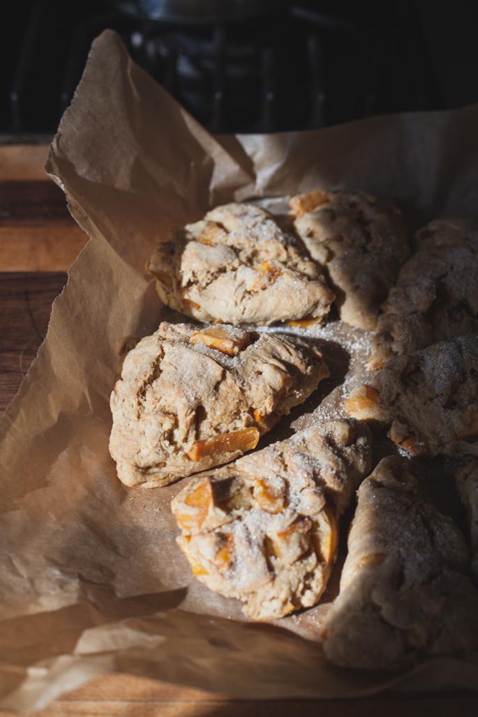 einkorn persimmon scones (dairy free, vegan) via will frolic for food