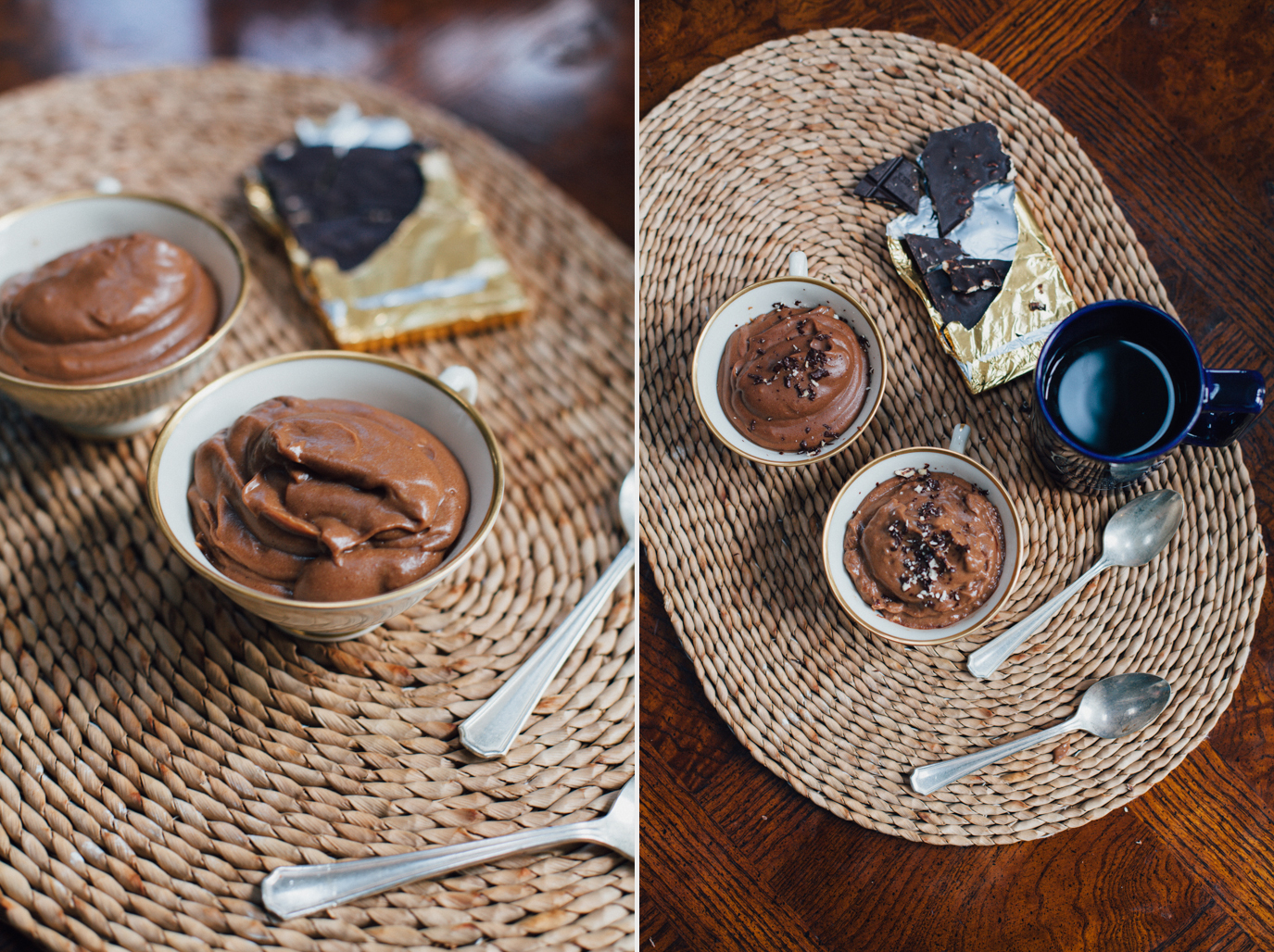 spiced teff chocolate mousse -- a super fast, healthy, vegan & gluten free breakfast via will frolic for food