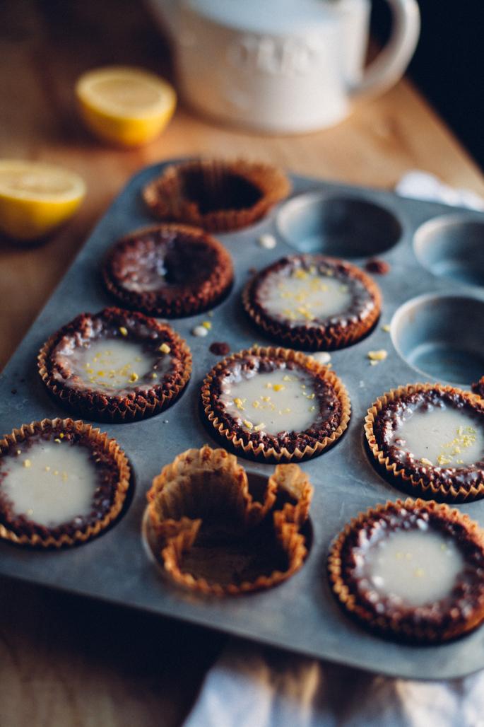 lemon olive oil tea cupcakes (vegan & gluten free) via will frolic for food