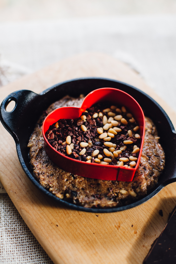 grain free chocolate cherry pine nut cookie cake! & it's vegan and gluten free | recipe via will frolic for food