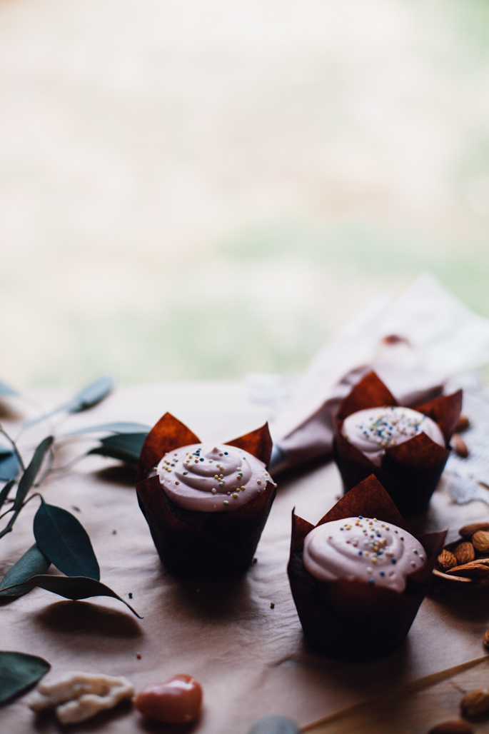 coconut cream cupcakes, an easy, clean-eating, grain free recipe from will frolic for food