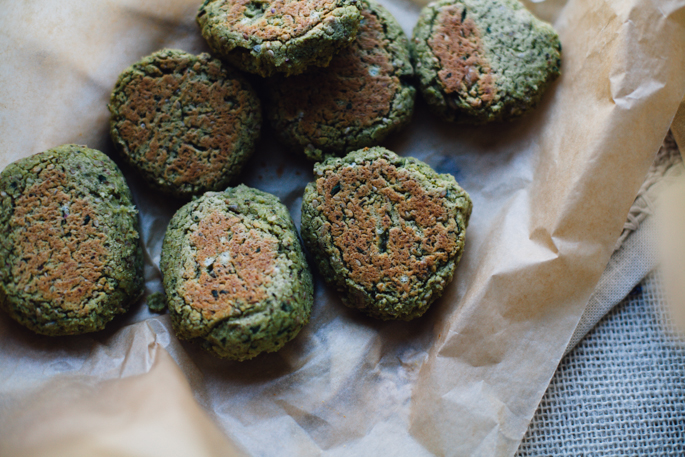 mini falafel burgers that come together in under 30 minutes! vegan and gluten free recipe via will frolic for food