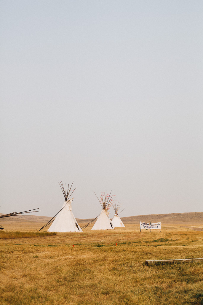 blackfoot tribe teepees in montana amidst smoke from wildfires | willfrolicforfood.com