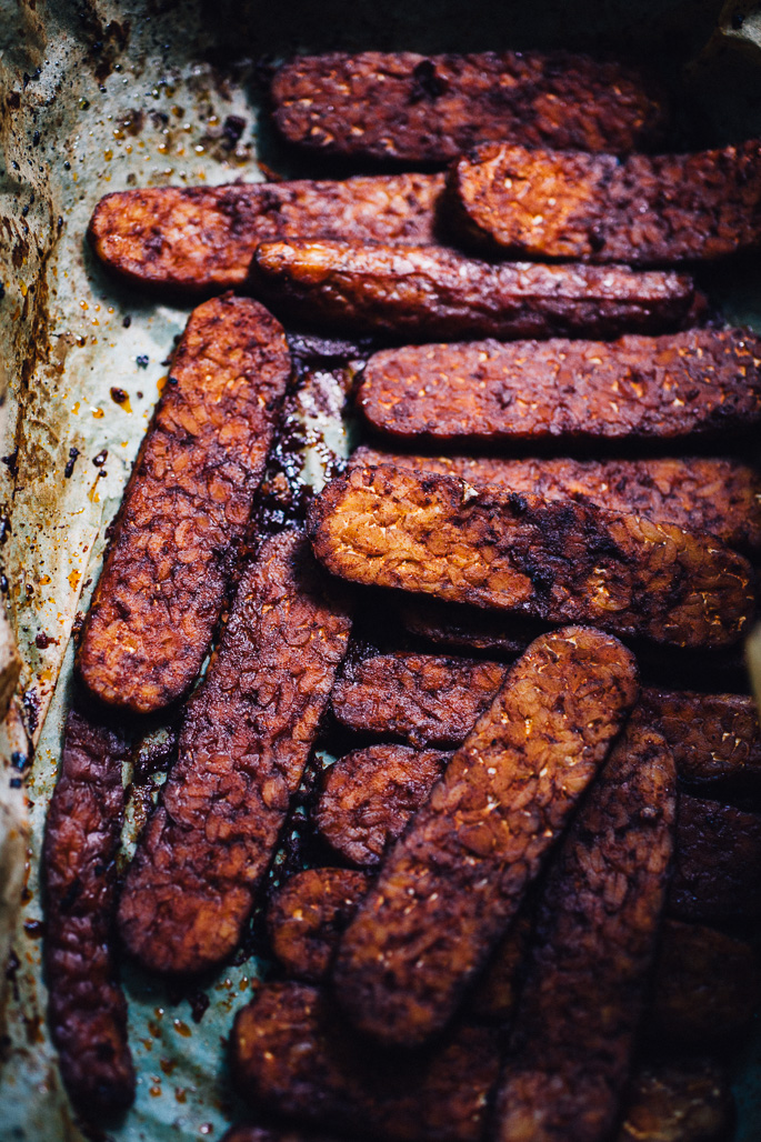 tempeh bacon | recipe via willfrolicforfood.com