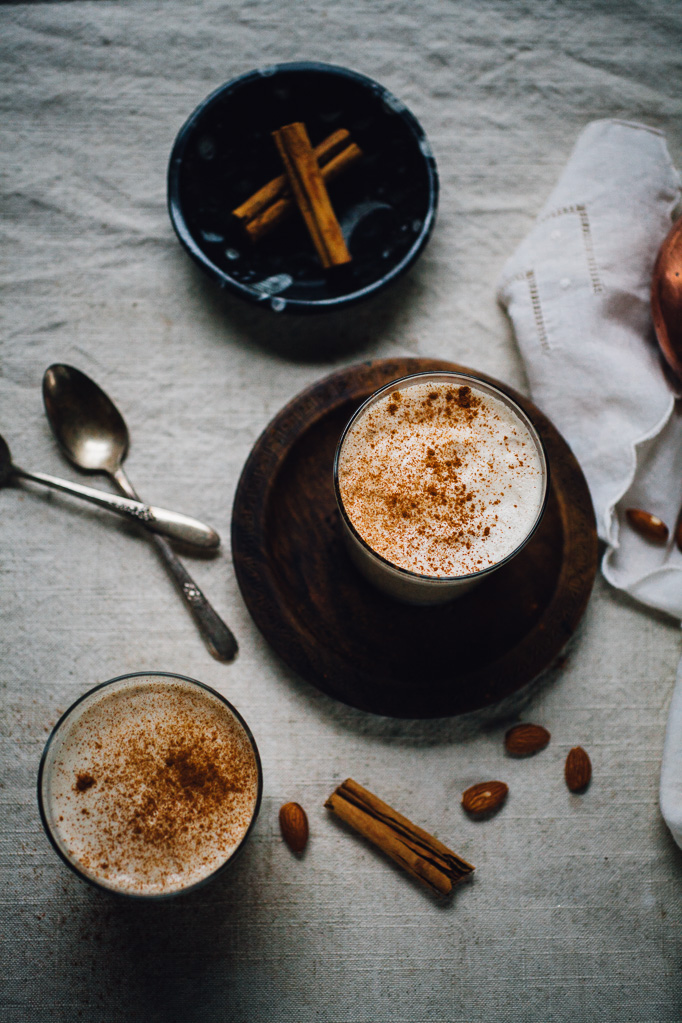 hot almond chia horchata | vegan recipe via willfrolicforfood.com