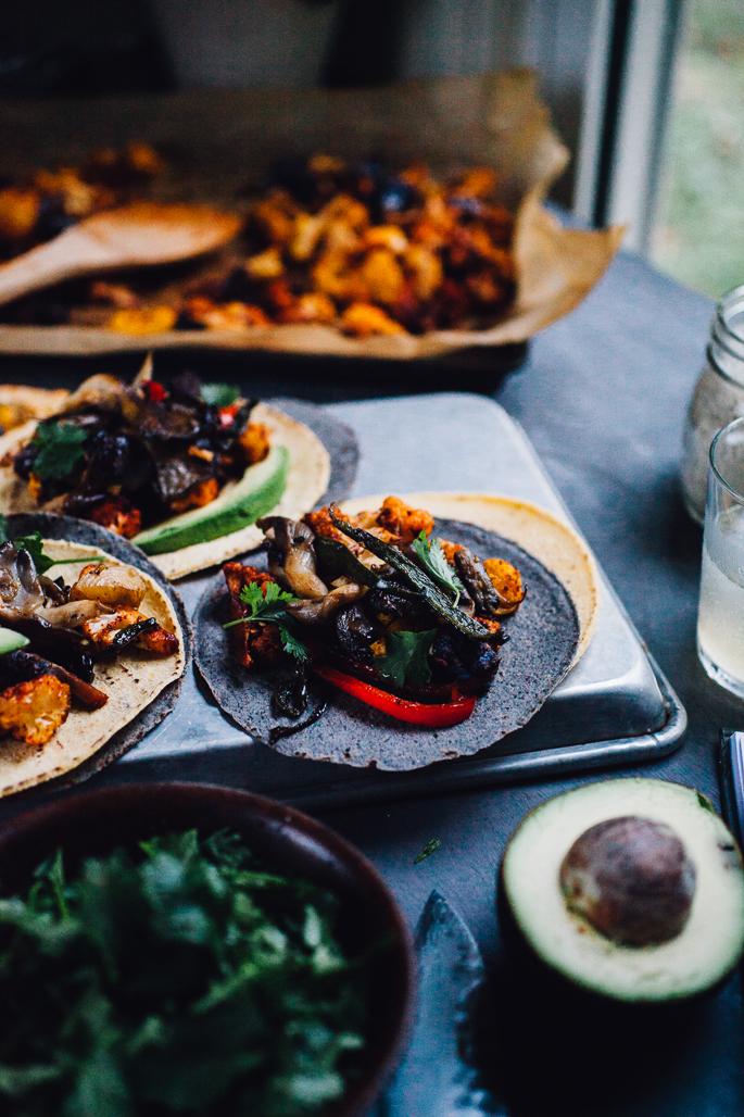 oyster mushroom & cauliflower tacos from Food52 Vegan | get the recipe on willfrolicforfood.com
