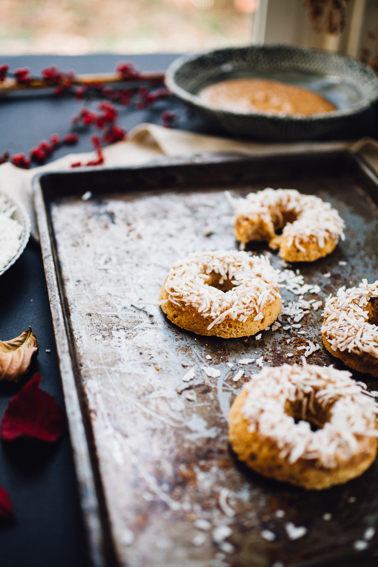 maple sweetened gluten free cake doughnuts (and they're vegan too!) | willfrolicforfood.com