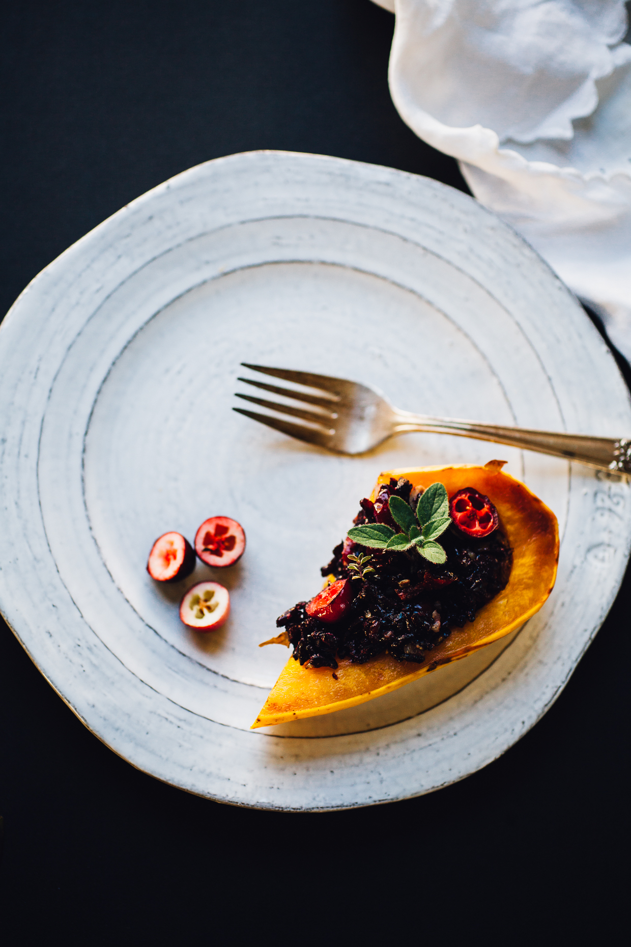black rice stuffed delicata squash boats | willfrolicforfood.com