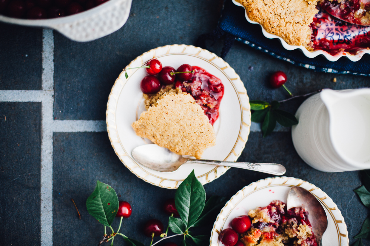 sour cherry spoon cake (vegan, gluten free) | willfrolicforfood.com