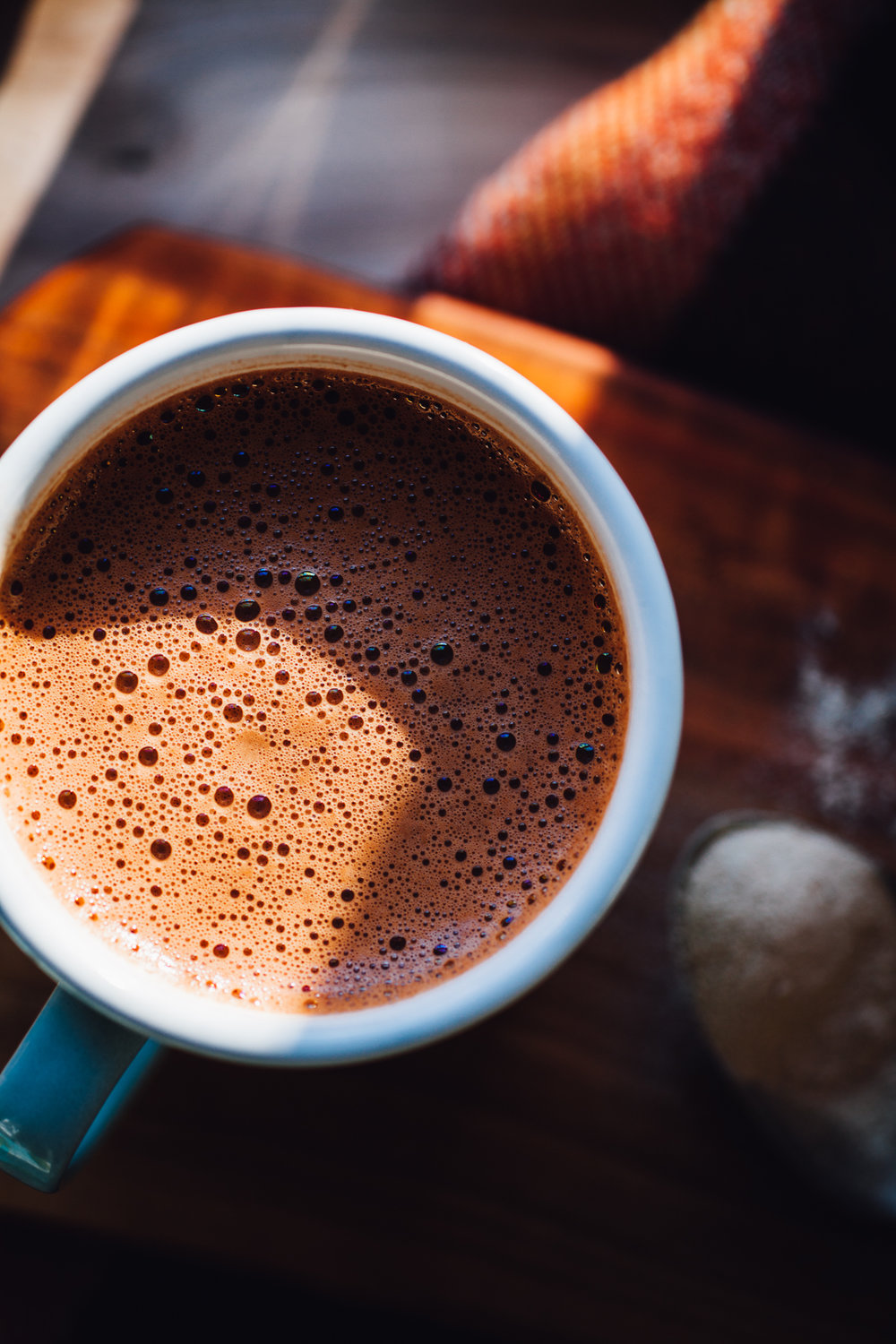 coconut water hot chocolate | recipe via willfrolicforfood.com