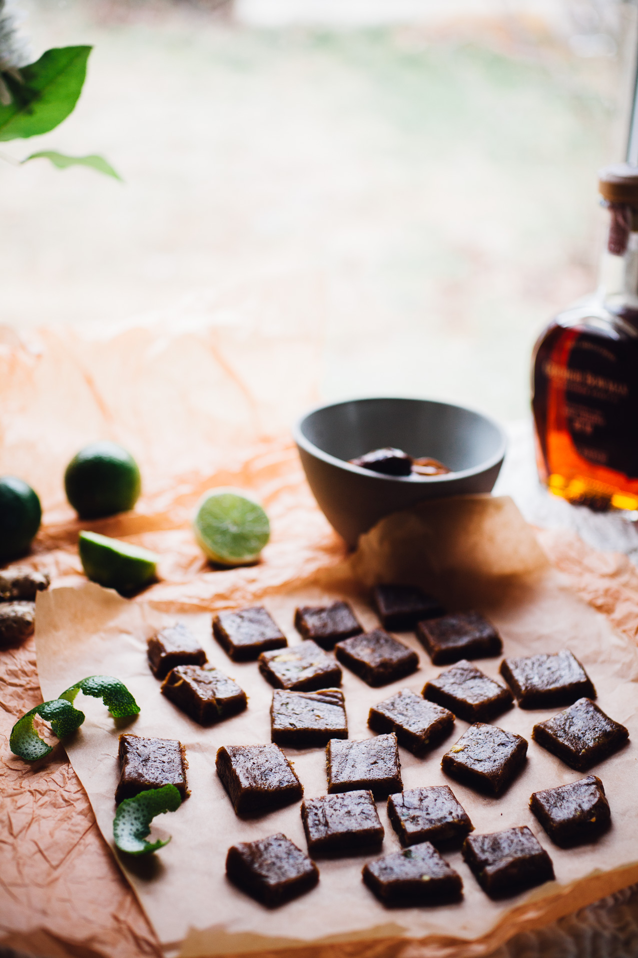 dark and stormy date caramels | recipe via willfrolicforfood.com