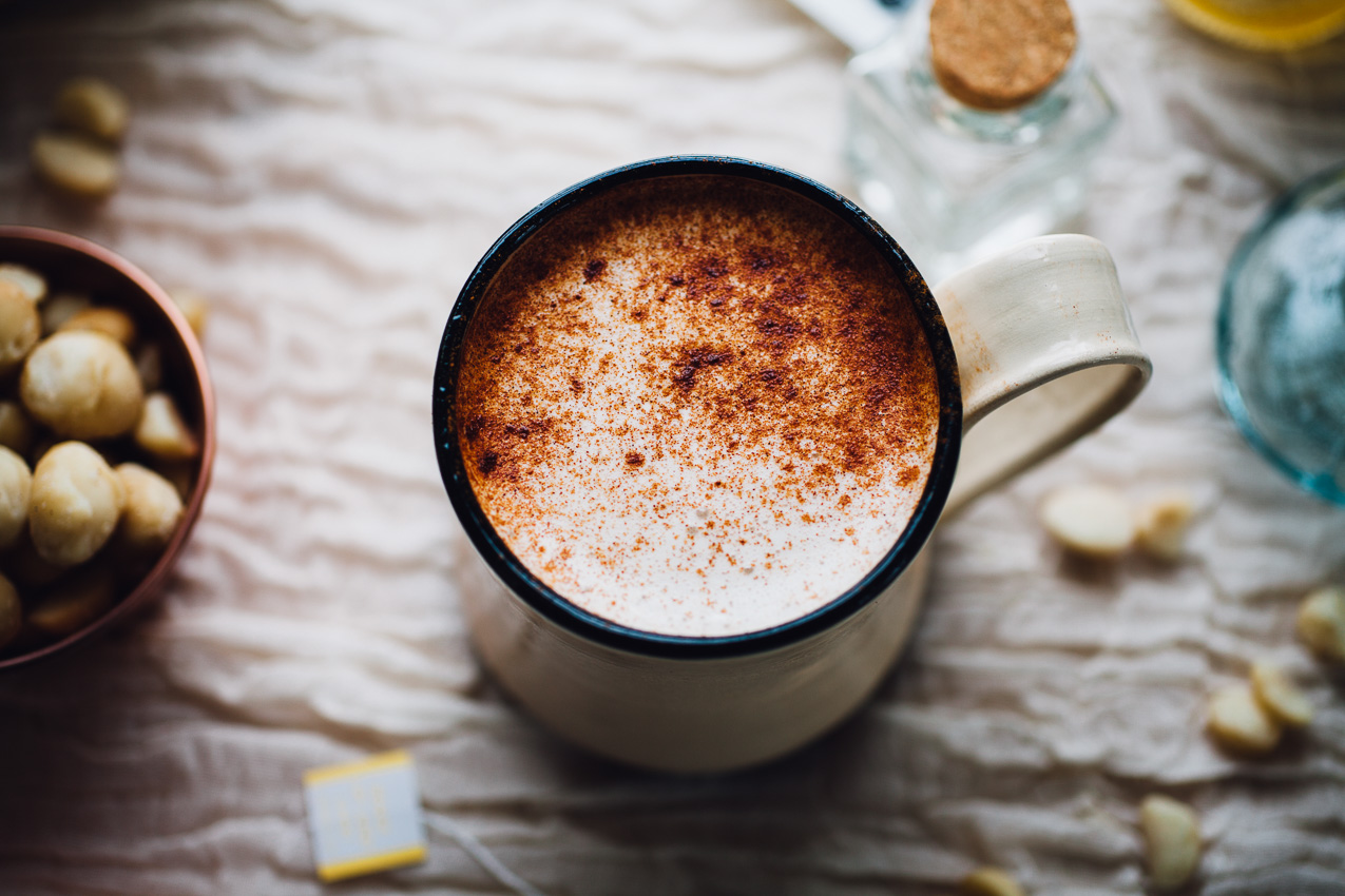 Macadamia Yerba Mate Latte | vegan recipe via willfrolicforfood.com