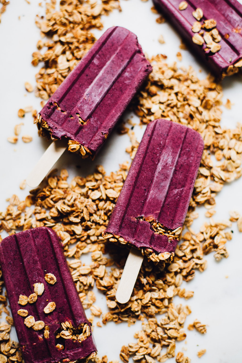 creamy vegan blueberry pie popsicles via willfrolicforfood.com