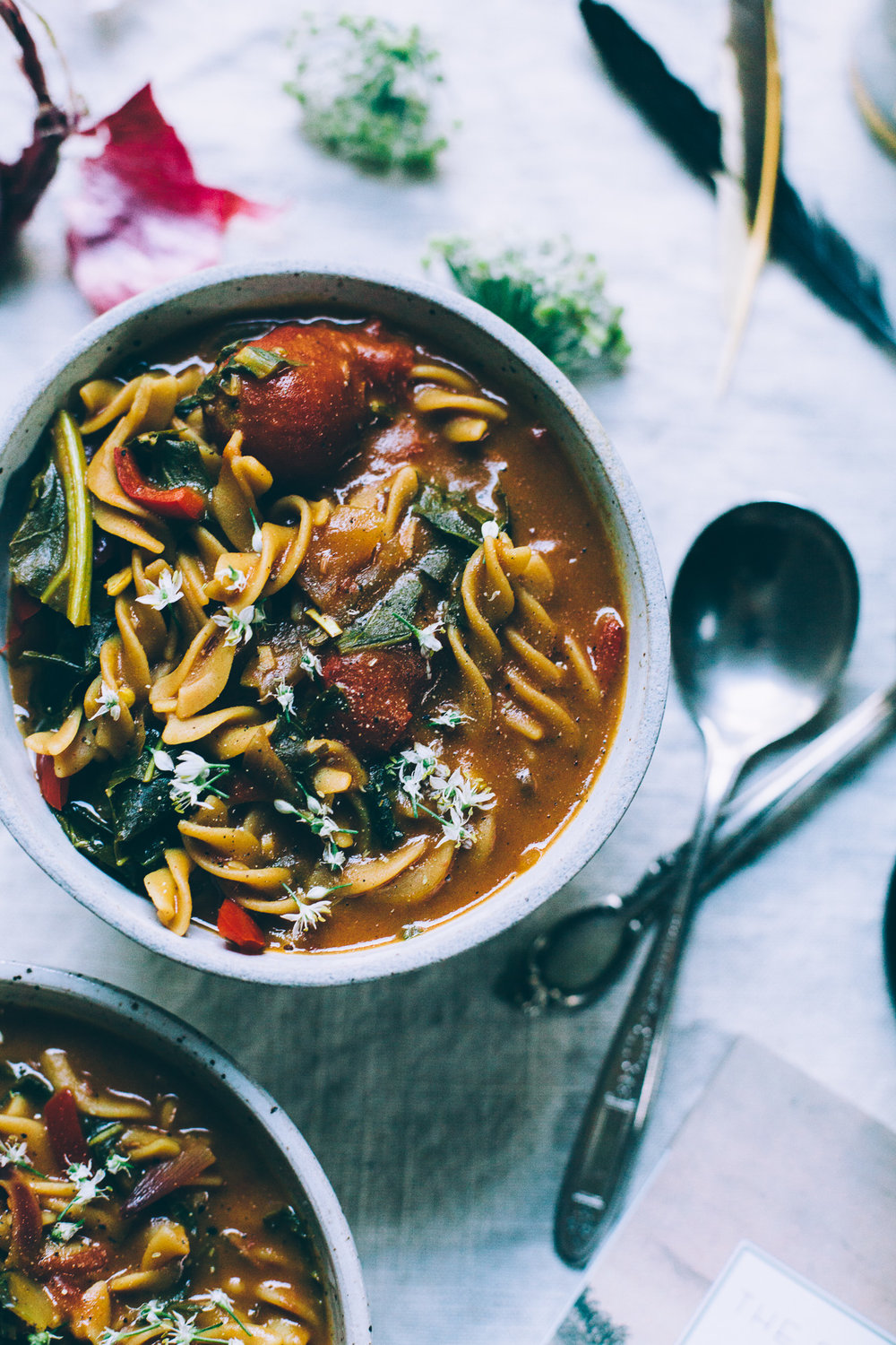 5-Spice Chickpea Noodle Soup | vegan gluten free recipe via willfrolicforfood.com