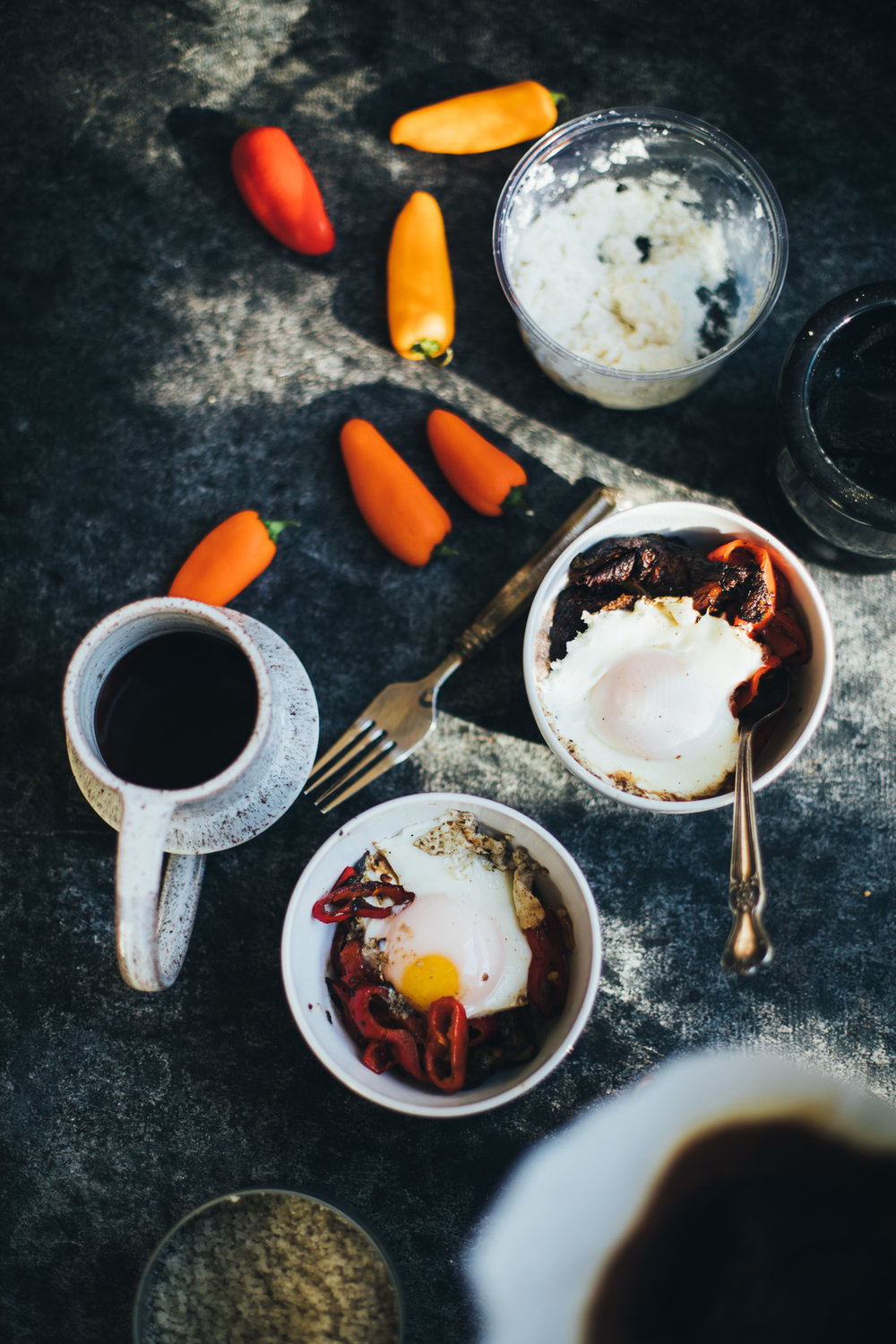 eggs over savory teff porridge | willfrolicforfood.com