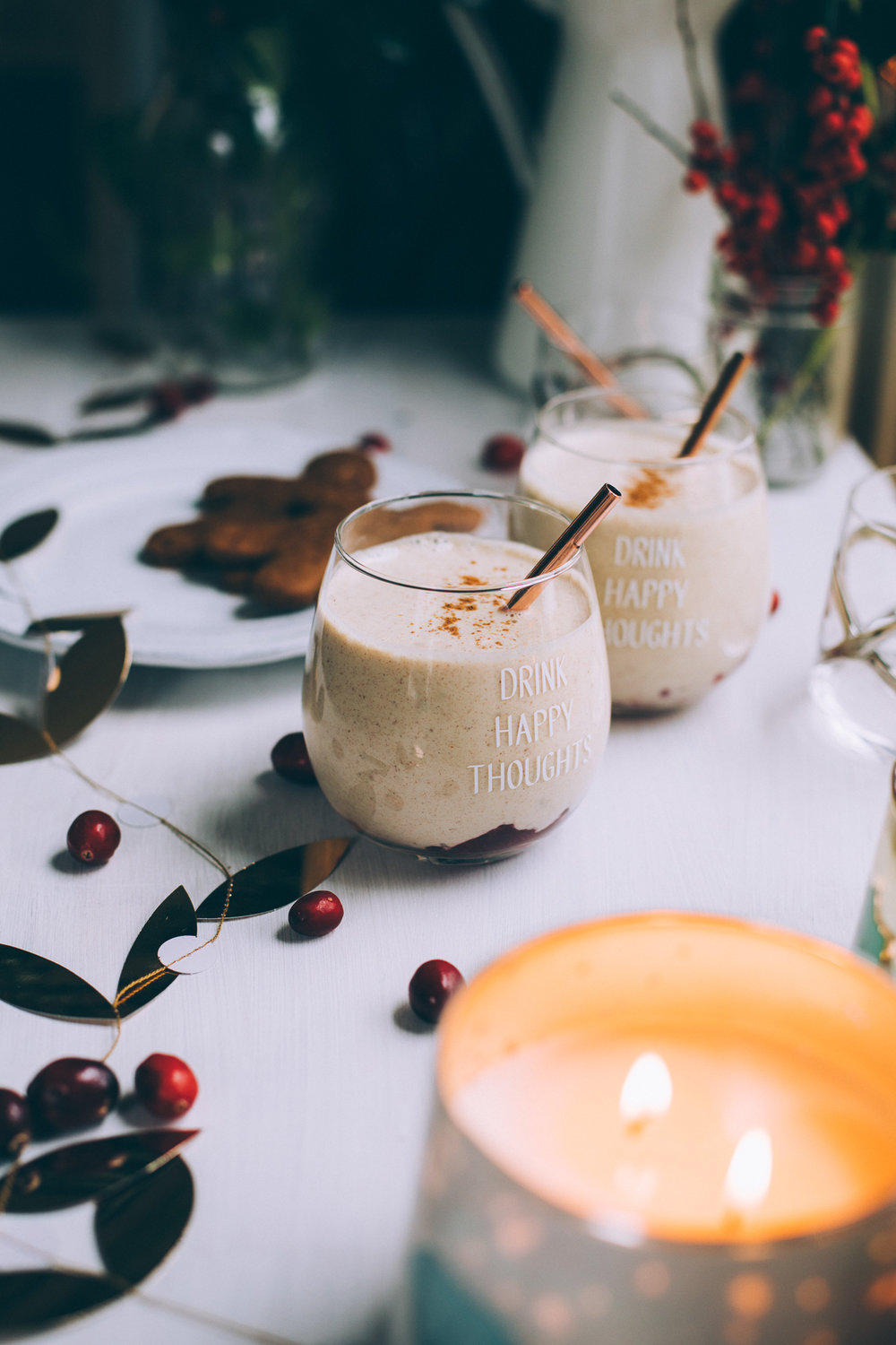 vegan cashew eggnog | recipe via willfrolicforfood.com