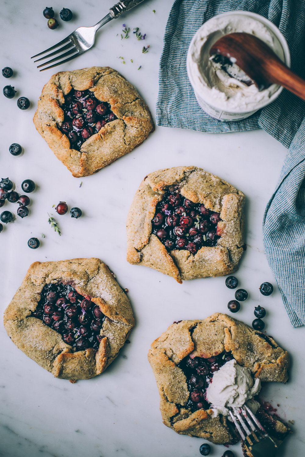 grain free blueberry galette recipe (dairy free)