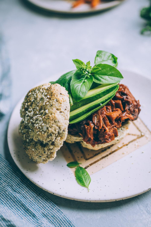 vegan jackfruit mushroom barbecue recipe