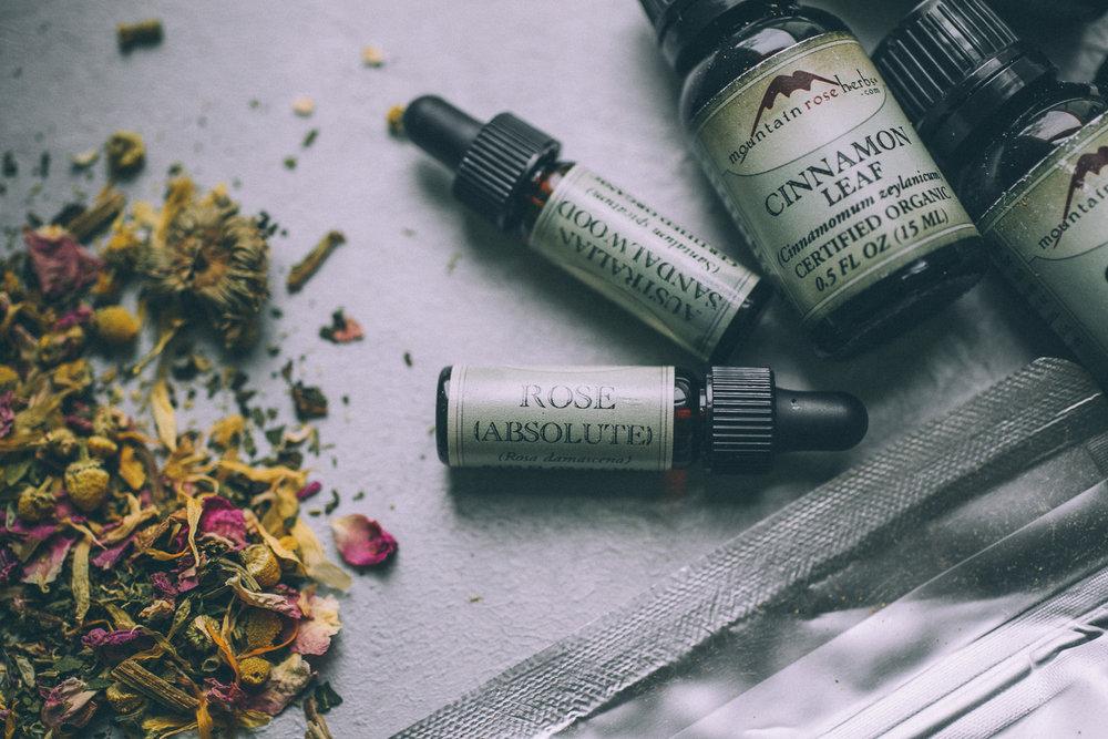DIY Herbal Bath Milk (oats + epsom salt + herbs + essential oils)