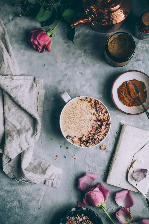 instant healthy coffee latte recipe   3 ingredients, vegan