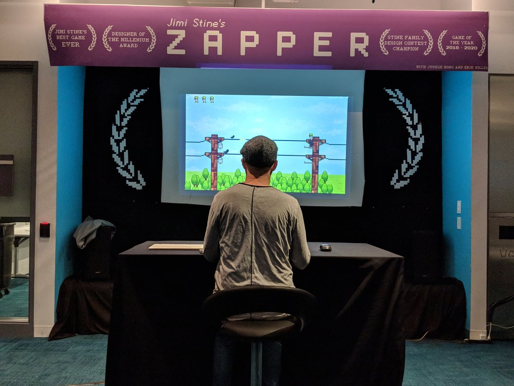 Darren Aronofsky, director of Black Swan, playing our game!