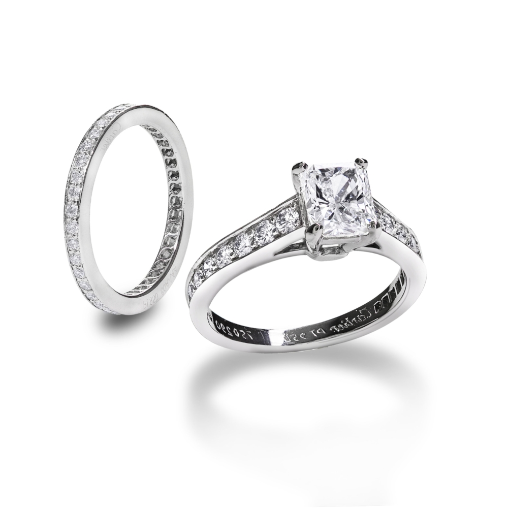 Cartier 1895 Engagement Ring and Wedding Band Set