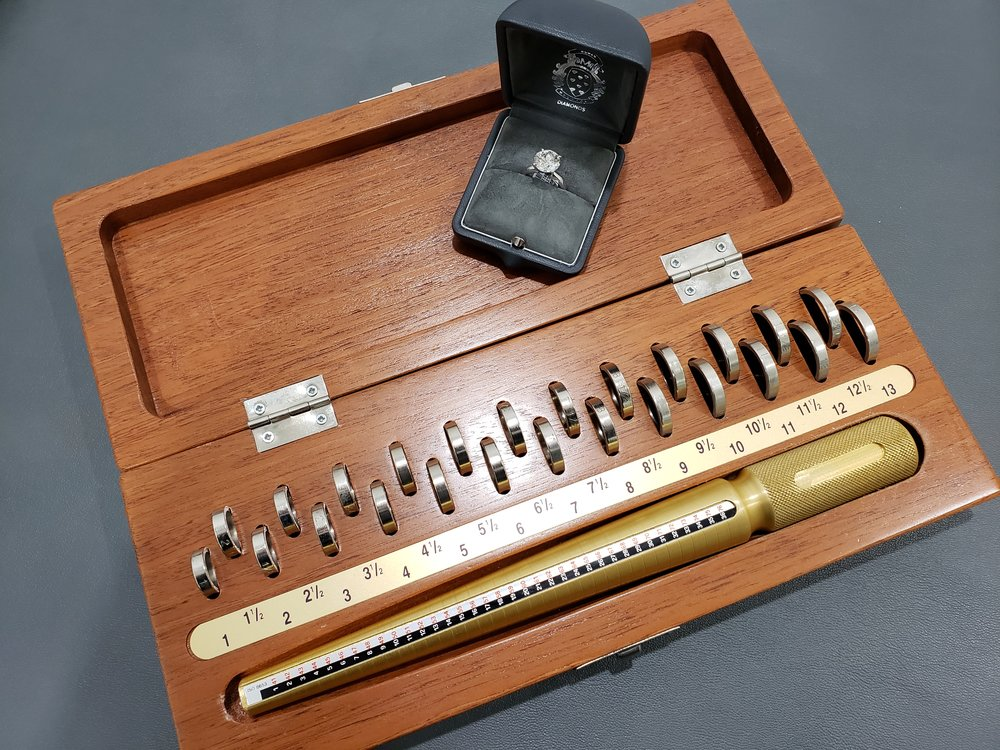 Example of a Ring Sizing Kit