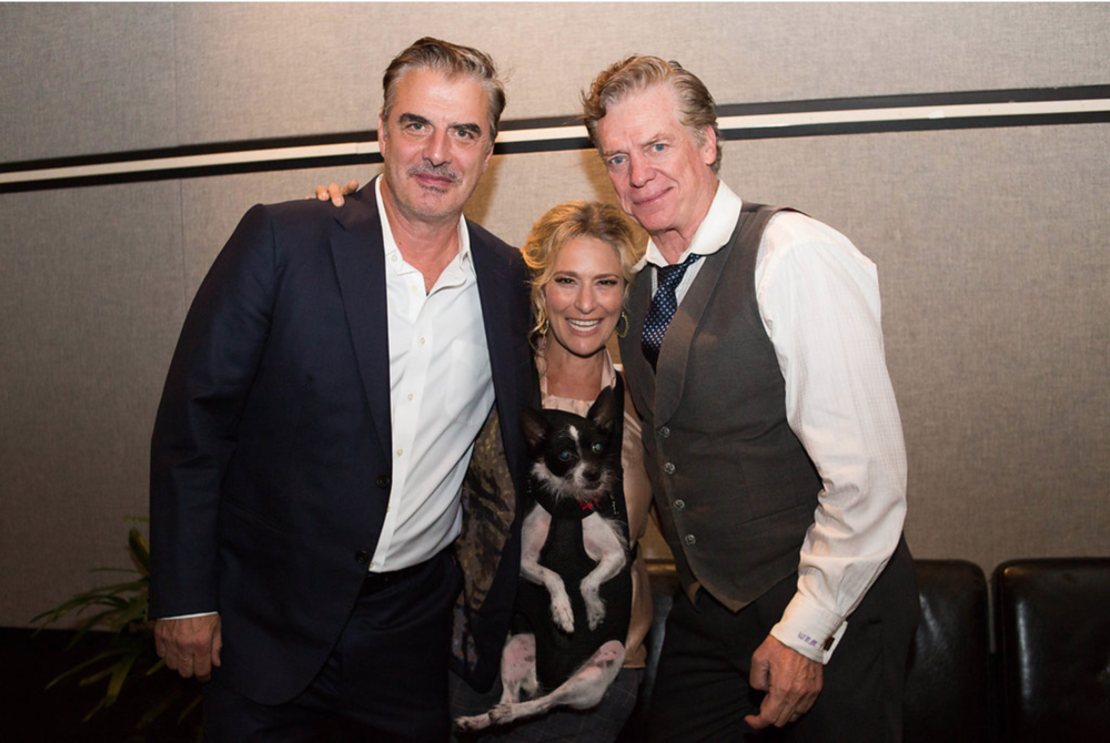 Chris Noth, Cat Greenleaf + Chris McDonald,  VIP Room   Credit: Madison Fender