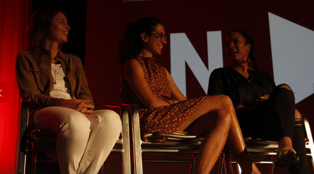 Christina Wayne, Sarah Treem + Janine Sherman Barrois, Industry Panel   Credit: Hayes Walsh