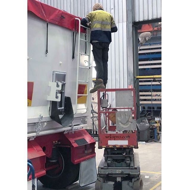 If only he had something to safely get him up there..... Tag a co-worker who would do things the hard way! ............ #hilarious #more #effort #fail #funny #friday #weekend #summer #enjoy #enjoylife #work #workhard #control #construction #building #life