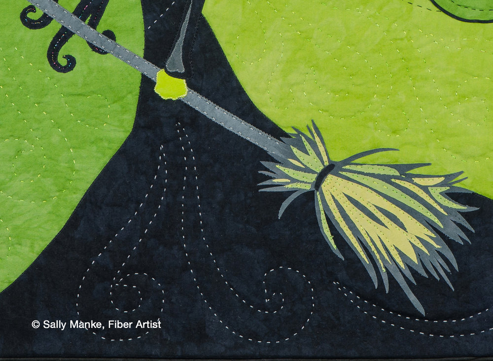 Elphaba and the Time Dragon Clock - Detail