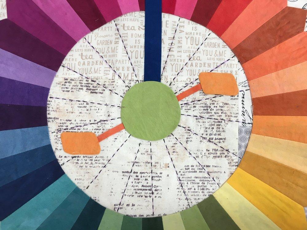 Sashiko Stitching on Big Wheel
