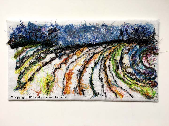 Winter Field Art Quilt