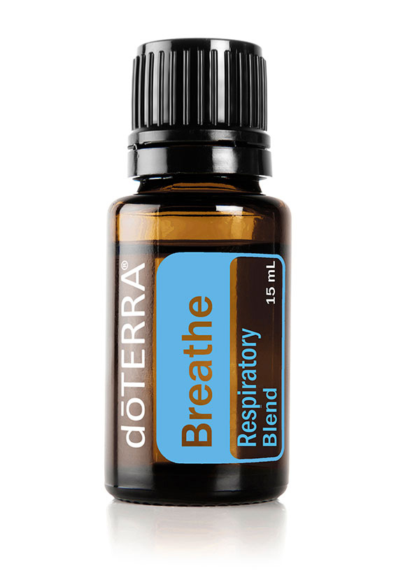 Breathe  A popular essential oil blend, doTERRA Breathe's refreshing aroma can be used to create feelings of clear, easy breathing.