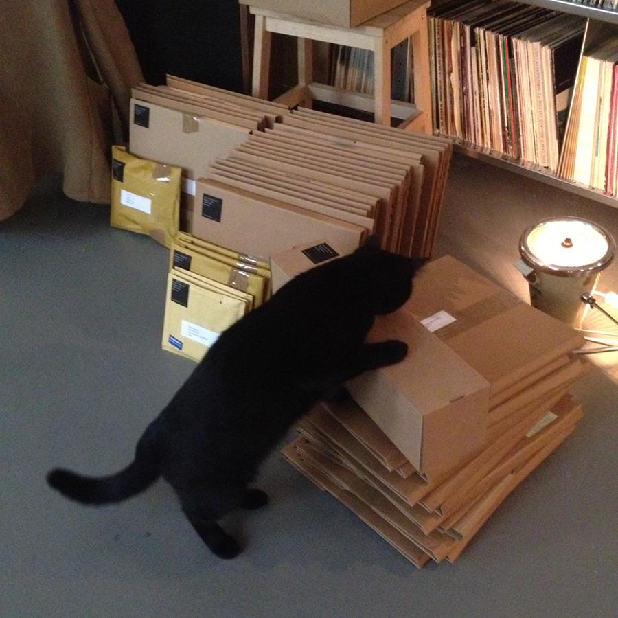 - mi — so worker Mia prepping new orders