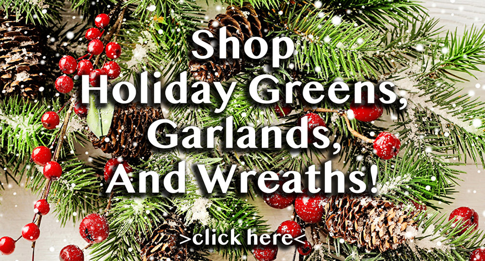 wholesale florist holiday greenery garlands and wreaths - Christmas Greenery Wholesale
