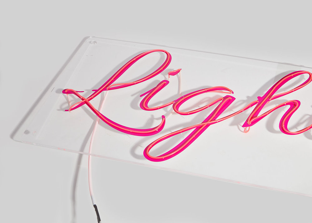 Clear Perspex - Fully transparent perspex with your choice of text, font and colour.