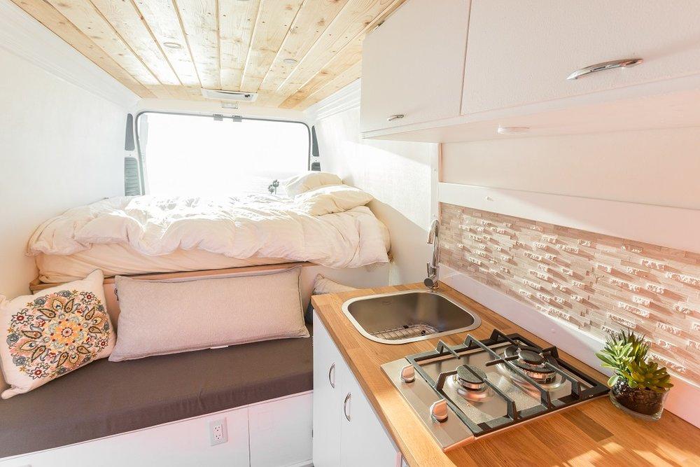 Conversion Van Layout Platform Bed